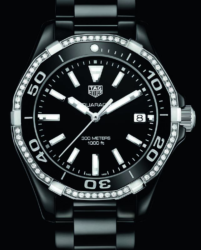 TAG Heuer Aquaracer 300m Ceramic Black & Diamonds Replica