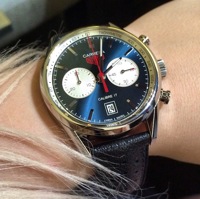 TAG Heuer Carrera Calibre 17 blue dial replica