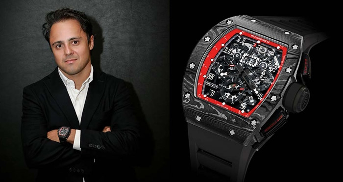 Richard Mille RM 011 Felipe Massa Black Night NTPT Carbon replica