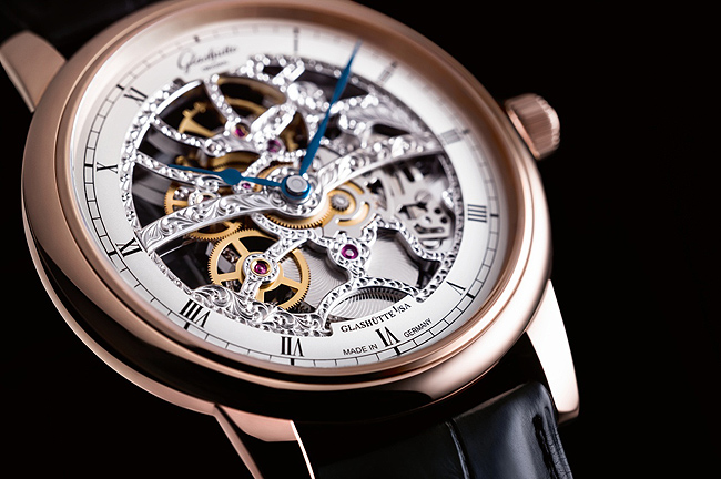 Glashutte Original Senator Manual-Winding Skeleton replica