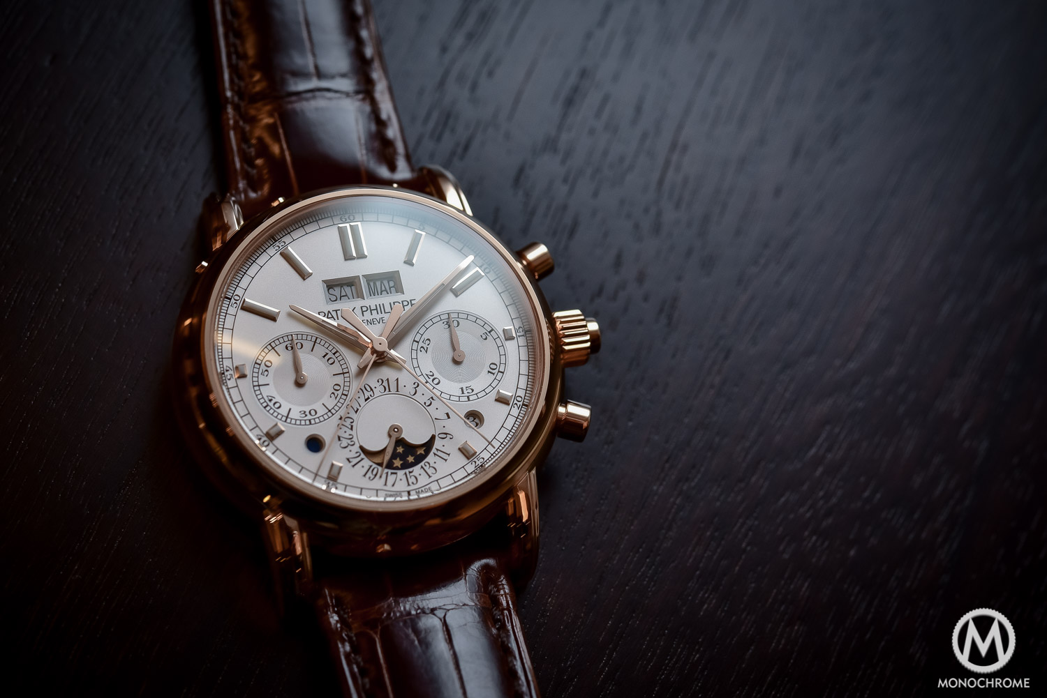 Patek Philippe 5204R Perpetual Calendar Split-Seconds Chronograph Rose Gold Replica Watch