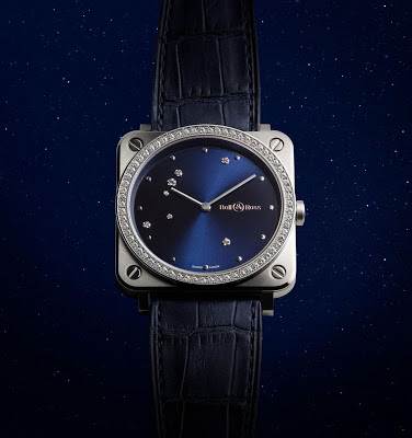 Ladies' Diamond Eagle Bell & Ross BR S Blue Dial Replica Watch