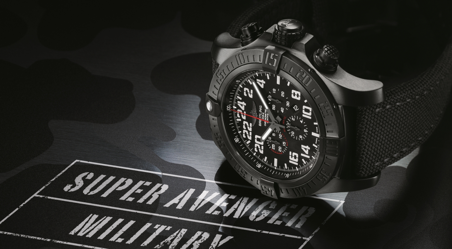 Up Close With The Typical Breitling Super Avenger Military Limited Edition Watch