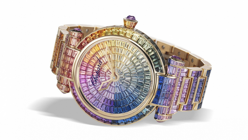 Chopard Imperiale Joaillerie Rainbow Sapphires watch