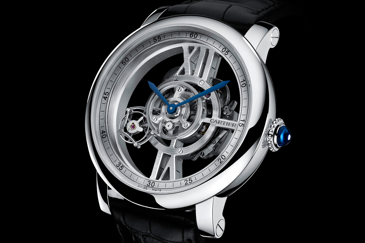 Cartier Rotonde de Cartier Astrotourbillon Skeleton watch replica