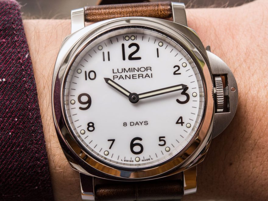 Panerai Luminor Base 8 Days Acciaio PAM561 Watch Review Wrist Time Reviews