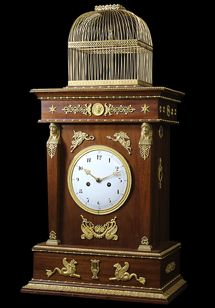 Restoration of the singing bird pendulum clock